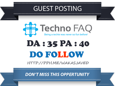Publish Guest post on Techno FAQ - technofaq.org Dofollow Link
