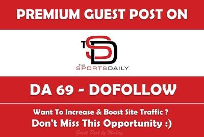 Publish a Guest Post on Thesportsdaily.com - DA 69