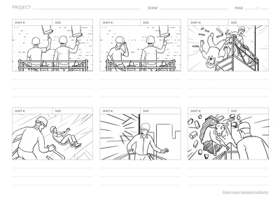Illustrate director STORYBOARD for film, tv, animation