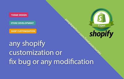 Fix any Bug/ Add custom functionality on your Shopify store