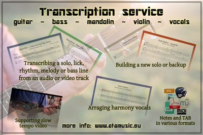 Transcribe a music part from a song