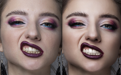 Do teeth whitening with photoshop editing. up to 3 Image retouch