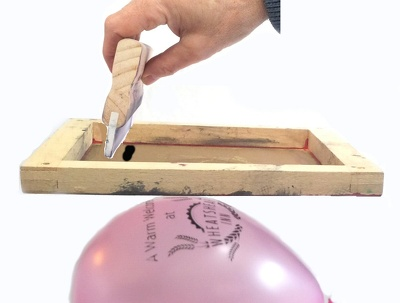 Give advice on printing latex balloons. Ink and accessories