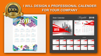 Design a professional Wall, Desk calendar 2018 for your company