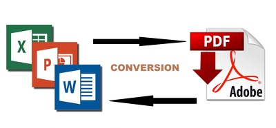 Convert MS Word, Ppt, JPG and Image file to Pdf and vice versa