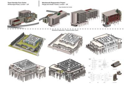 Create structural BIM model by Revit