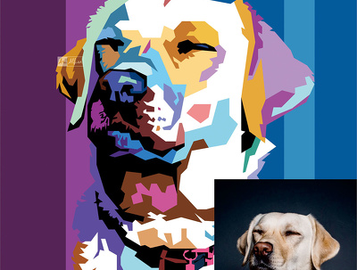 Draw your Pet into WPAP Pop-Art