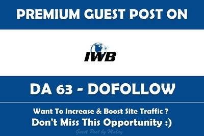 publish a Guest post on InvestmentWatchBlog.com - DA 63