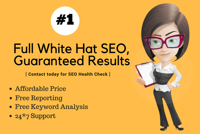 Do Full White Hat & Organic SEO 100% Result Guaranteed