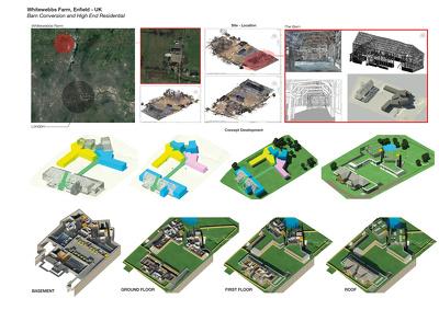 Create architectural BIM model by Revit