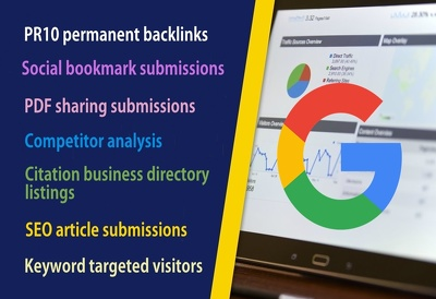 Manual High Authority SEO PR10 Backlinks Google Ranking Campaign