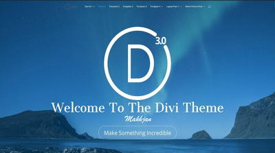 Create a modern WP website using Divi Theme - Up to 5 Pages