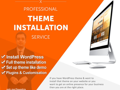 Install wordpress theme and setup like demo