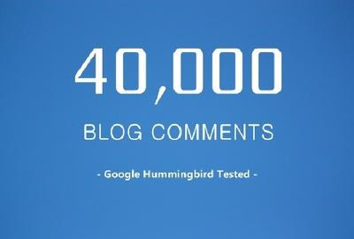 Provide Over 40,000 SEO Blog Comments Backlinks