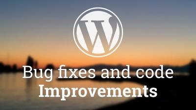 Fix any WordPress code/design issues