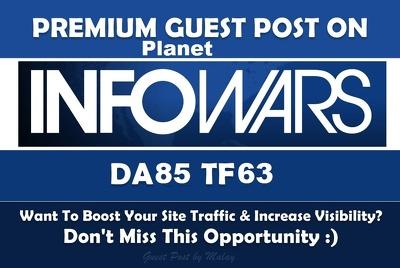 Guest post on infowars DA 85 General Dofollow Blog