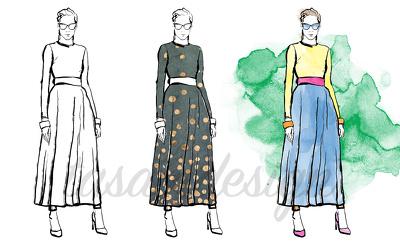 Draw A Professional Fashion Illustration, Fashion Sketch
