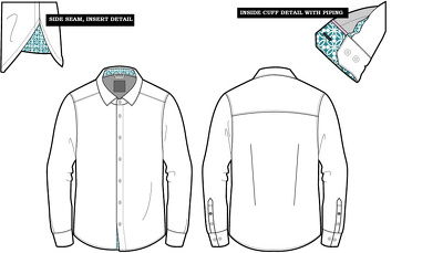 Create a technical flat/illustration (fashion design CAD)