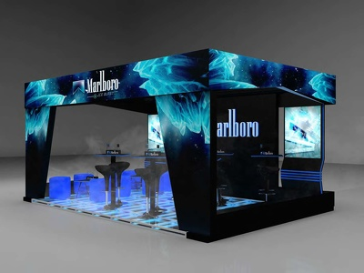Design an outstanding 3D design such as stand and scenography