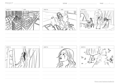 Produce STORYBOARD for film, TV