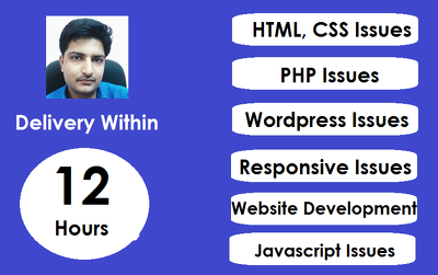 Develop Website And Fix Html, Css, PHP Issues