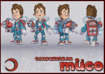 I can illustrate character designs and model sheets to you