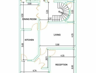 Provide 2d floor plan elevation and wall section