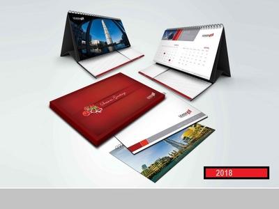 Design professional wall, Desk, Call calendar 2018 Stander
