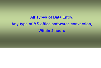 Do quality with full accuracy data entry work within 2 hours