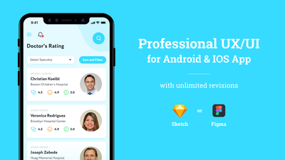 Design Professional 10 Screens UX/UI for Android & IOS App