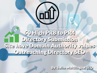provide 50 High PR 8 to PR 4 Web Directory Submission Services
