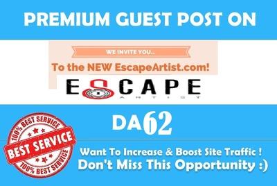 Publish a guest post on Escape Artist - EscapeArtist.com - DA62