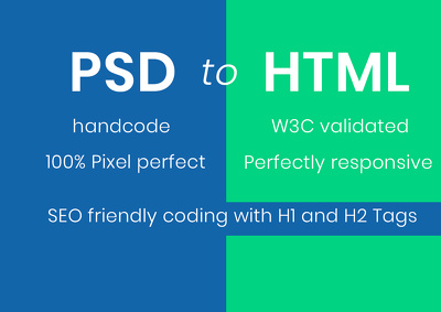 Convert your PSD or image into fully Responsive HTML quickly