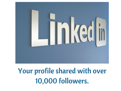 Share your social media profile with over 10K Linkedin followers