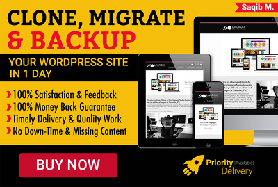 Clone/Migrate WordPress website to different Domain/Hosting