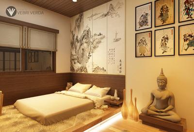 Design a bedroom interior for maximum 20 square meter