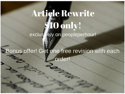 Rewrite/paraphrase/reword your 1000 word article in a day