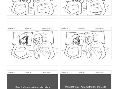 Illustrate professional shooting STORYBOARD