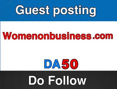 Guest post on WomenOnBusiness  –   WomenOnBusiness   –  DA 55