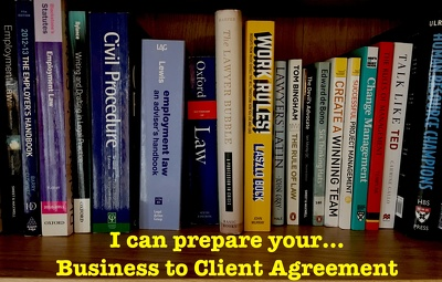 Write a bespoke business to client (B2C) contract
