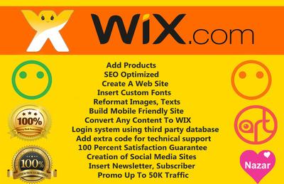 Develop A Professional SEO Optimized Wix Website