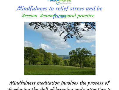 Give you a Mindfulness session to manage stress,strong emotions