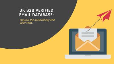 Provide 4000+ Verified UK B2B Email Database - Email Addresses