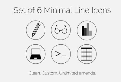 Create a set of custom minimal line icons