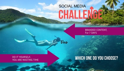 Develop and Schedule Branded Social Media Content for 1 Week
