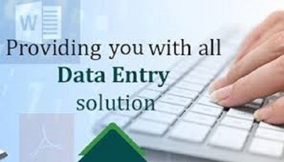 Do all type of data entry work for 2 Hour