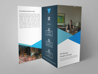 Design double sided corporate brochure with unlimited revisions.