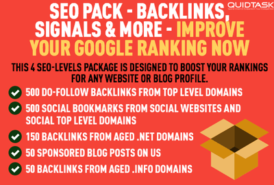SEO Pack with 10,000 PBN Backlinks, PR9 Social Signals Bookmarks