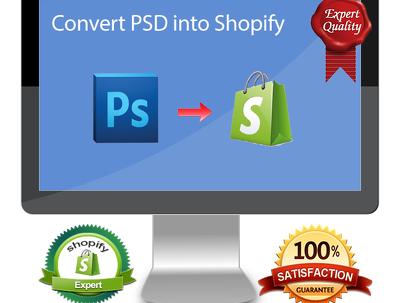 Convert PSD to your Shopify store