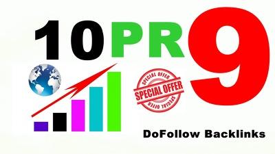 Provide 10 PR9 safe SEO high PR Backlinks best result 2018
